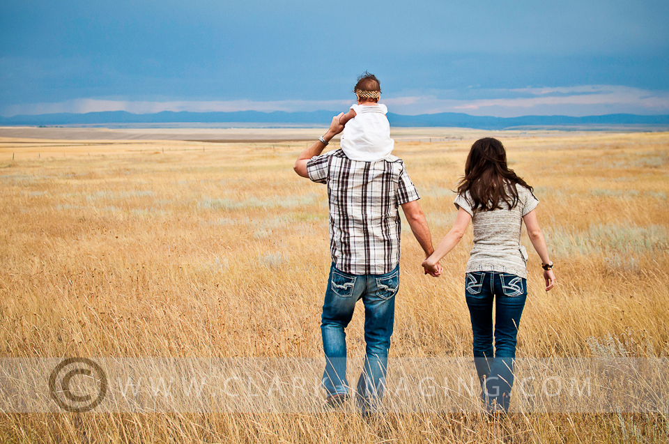 Sam & Sheersties family portrait session in downtown Great Falls, Montana.